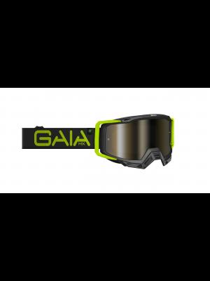 Óculos GaiaMX PRO para motocross e trilhas (goggle) BLACK LIGHT PRO