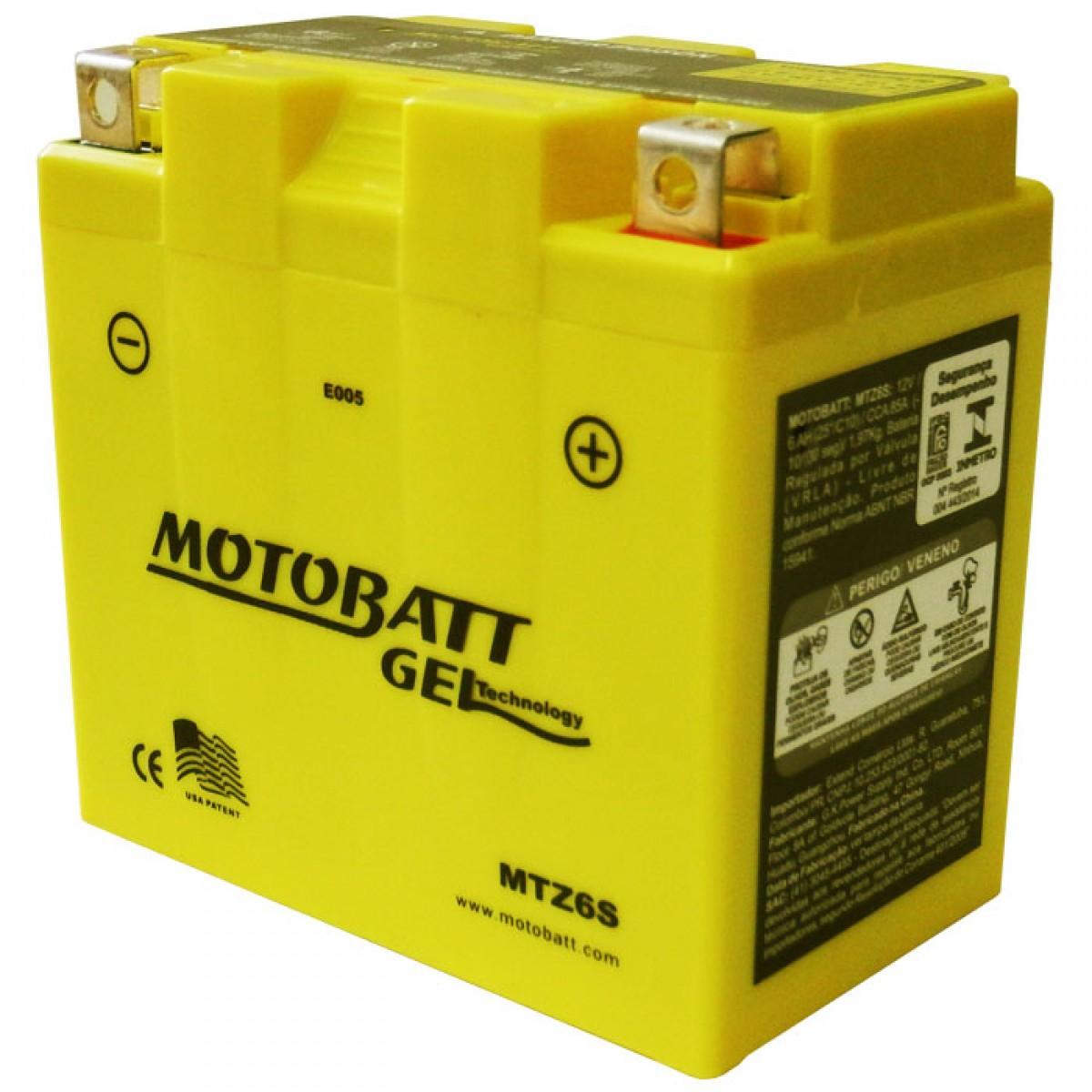 bateria MTZ6S motobatt